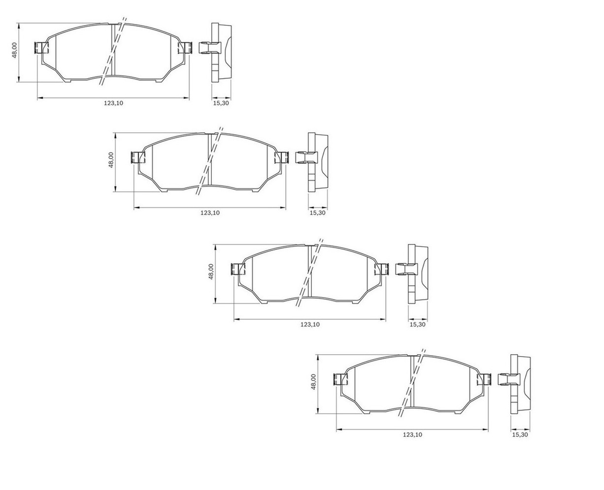 Pastilha Dianteiro Mitsubishi Tr4 2.0 2007 a 2015 Bosch