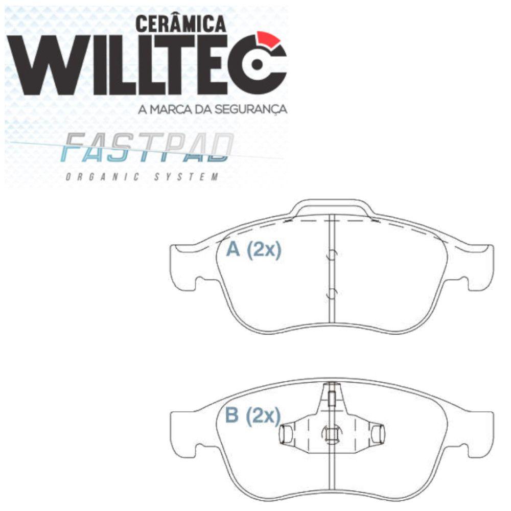 Pastilha Freio Dianteira Cerâmica Captur Duster 2.0 2017/... Willtec