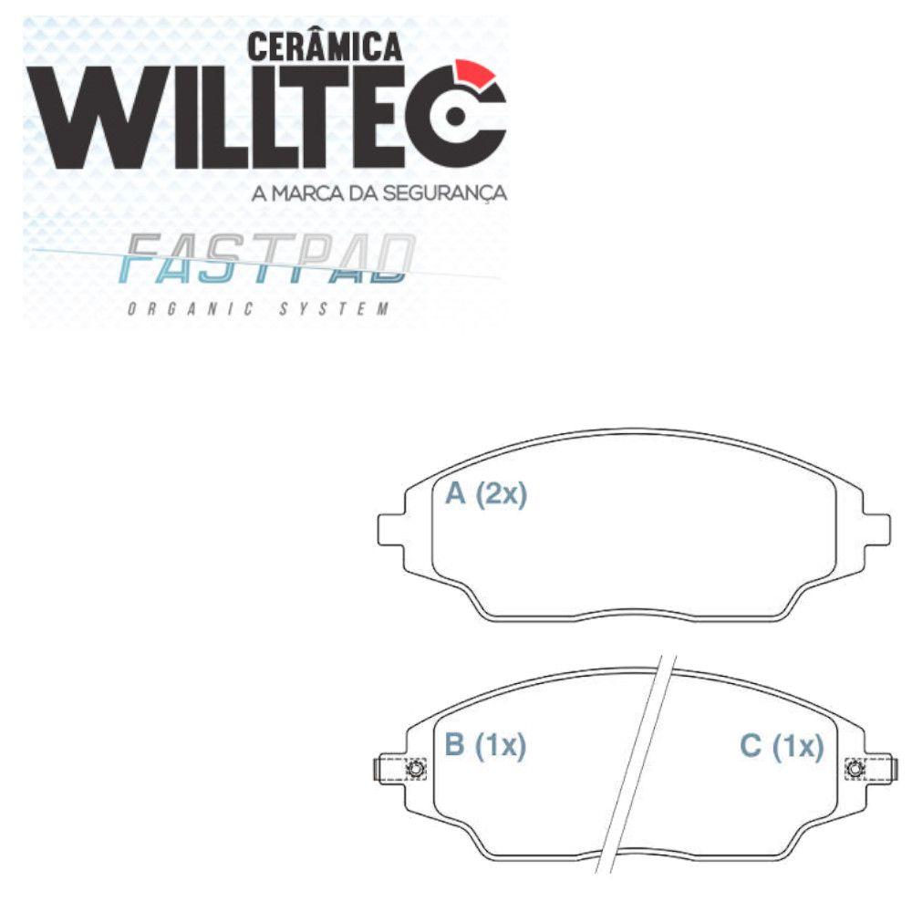 Pastilha Freio Dianteira Cerâmica Cobalt  Sonic Spin 2012 a 2017 Willtec