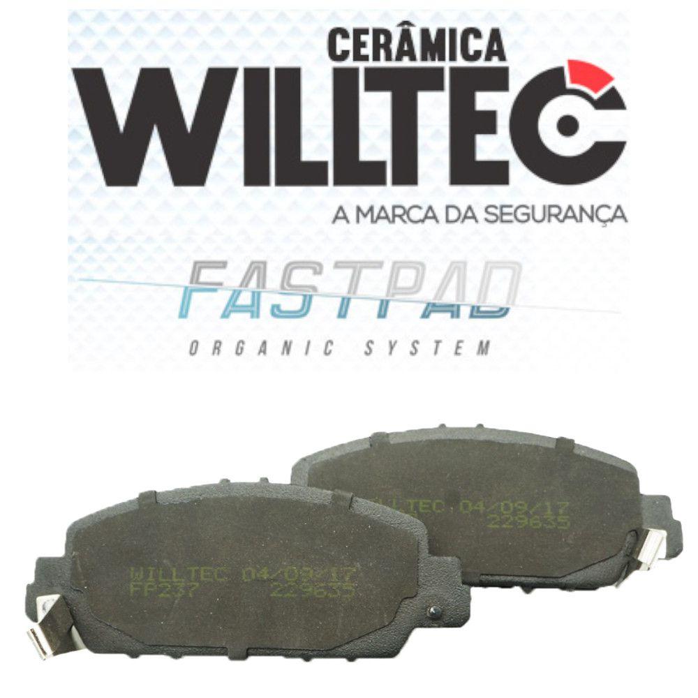 Pastilha Freio Dianteira Cerâmica HRV 2015 Em Diante Willtec