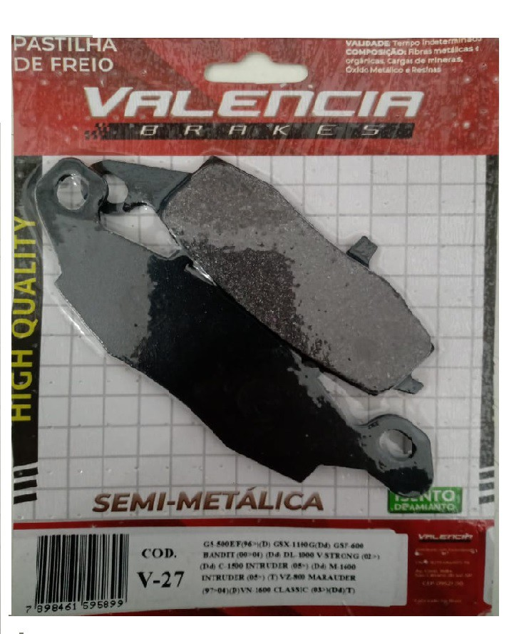 Pastilha Freio Dianteira DL 1000 V-STROM Valencia Ref N959