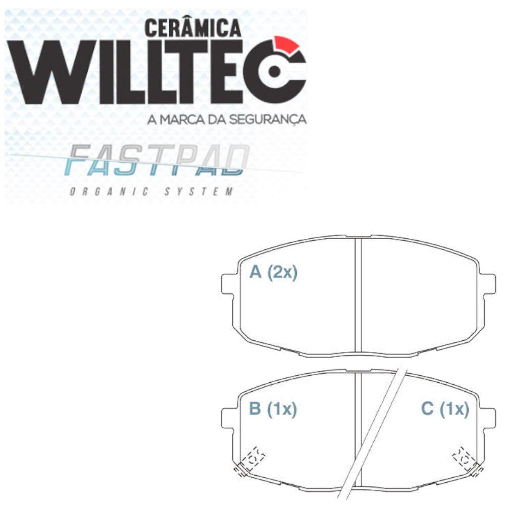 Pastilha Freio Dianteiro Cerâmica Hyundai I30 2009 a 2012 Willtec