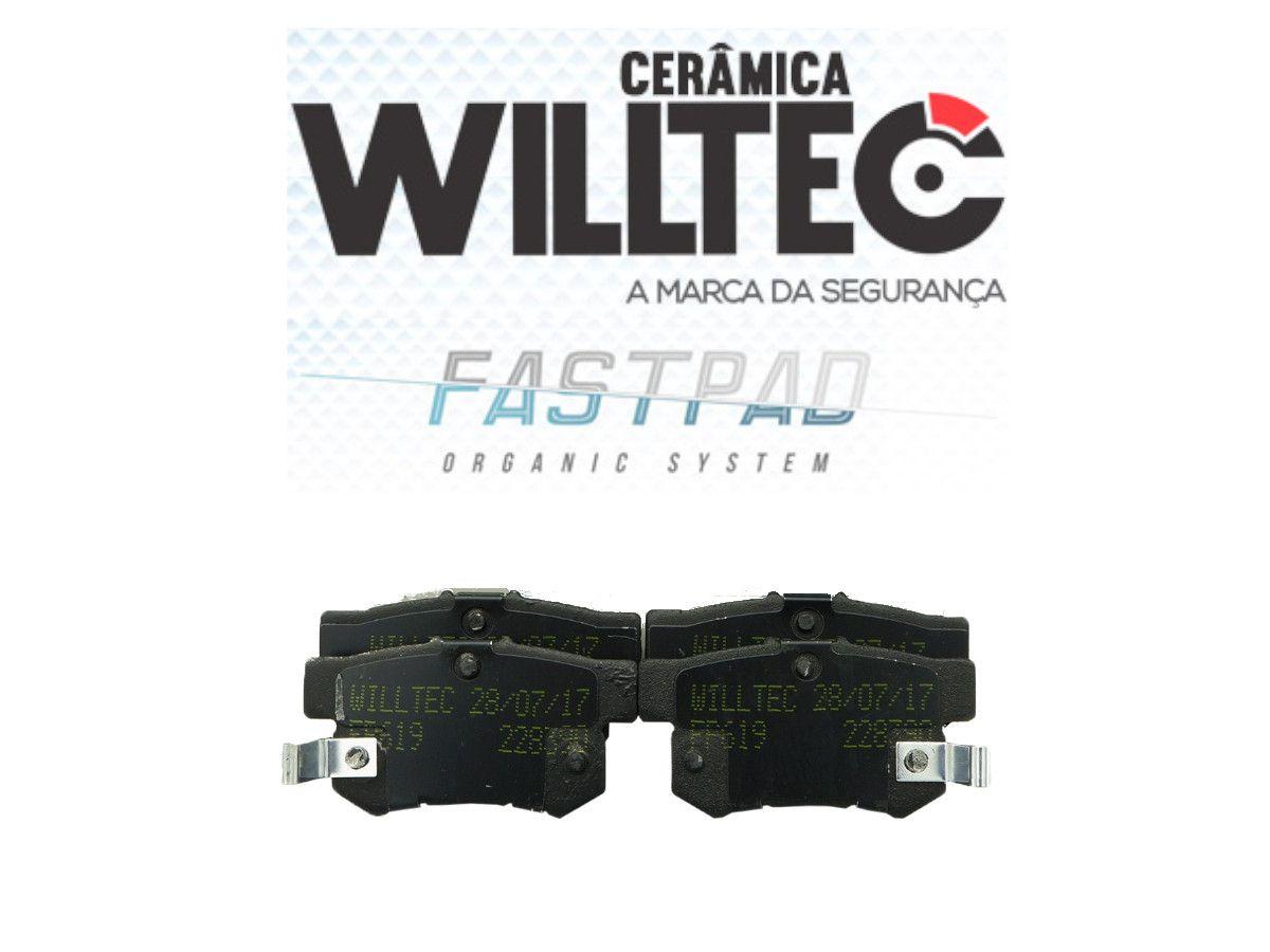 Pastilha Freio Traseira Cerâmica New Civic 2006 a 2011 Willtec
