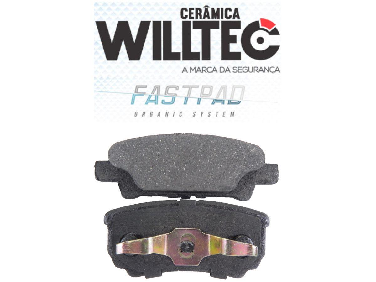 Pastilha Freio Traseira Cerâmica Airtrek 2002 a 2006 Willtec