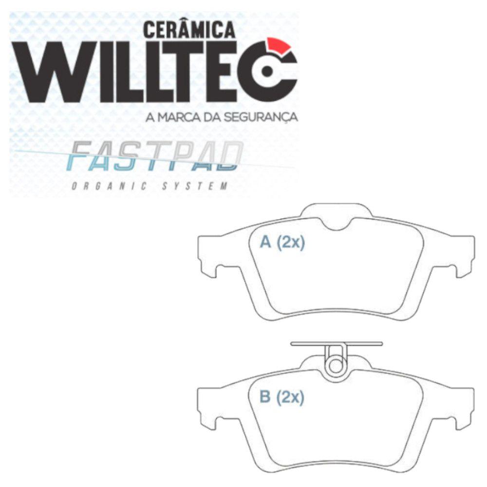 Pastilha Freio Traseiro Cerâmica New Focus 2009/2018-C30/S40- Willtec