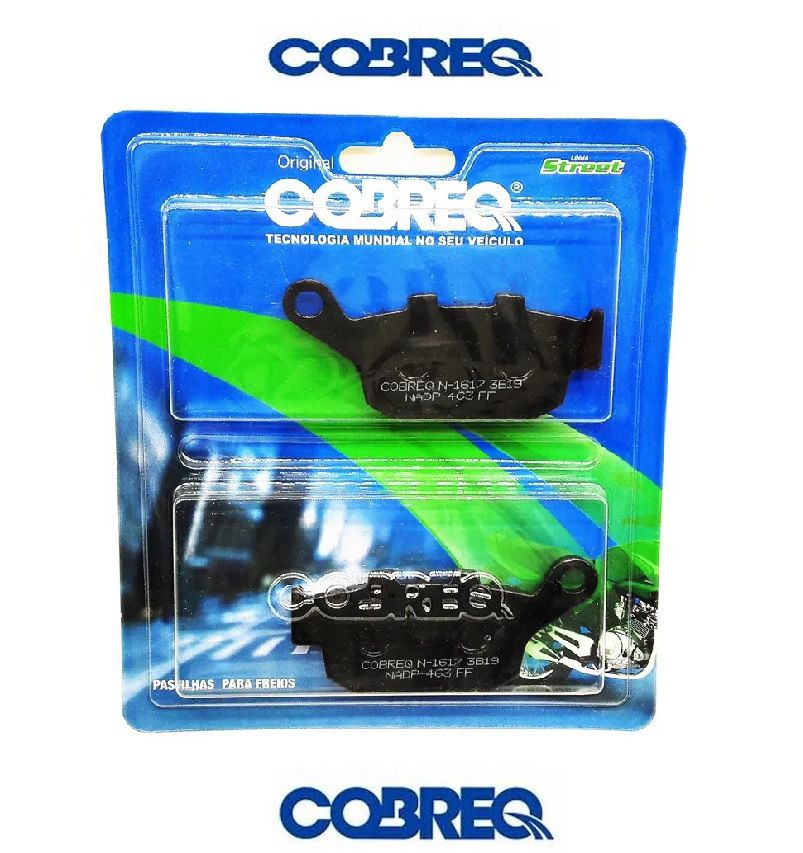 Pastilha Freio Traseiro Honda Cb300 Cbr 250 S/ Abs Cobreq 2009 Em Diante