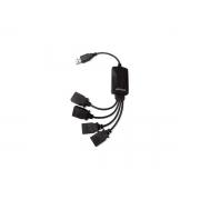 Ac.Hub Usb Cables 2.0 4 Portas Multilaser Preto AC042