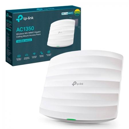 Access Point Wireless TP-Link Omada EAP225, AC1350, Montável em Teto, Dual Band Gigabit 450/867Mbps