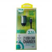Adaptador USB Veicular Com Cabo Lightning 1,0M GV ADT.12401
