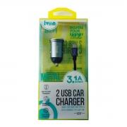 Adaptador USB Veicular Com Cabo Tipo-C 1,0M GV ADT.12501