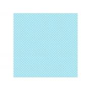 Adesivo Stick Infantil Poá Azul Bebê, Contém 1 Rolo, 45cmx10m - Dekorama - 26045