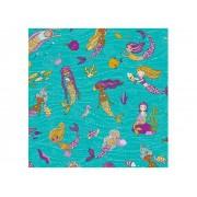 Adesivo Stick Infantil Sereias, Contém 1 Rolo, 45cmx10m - Dekorama - 26049