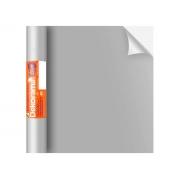 Adesivo Stick Lisos Prata Fosco, Contém 1 Rolo, 45cmx10m - Dekorama - 29065