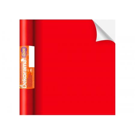 Adesivo Stick Lisos Vermelho Fosco, Contém 1 Rolo, 45cmx10m - Dekorama - 26082