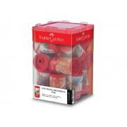Apontador C/ Deposito Tubo Plástico, Caixa C/ 12 Unidades, Faber Castell - 123PLZF