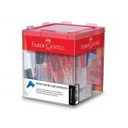 Apontador Plástico Com Depósito, Caixa C/ 25 Unidades, Faber Castell - 125LVZF