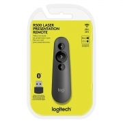Apresentador Logitech R500, Laserpoint, Bluetooth, Preto