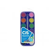 Aquarela 12 Cores + 1 Pincel, Caixa Com 06 Unidades Cis - 527400