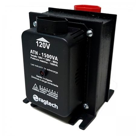 Auto Transformador Ragtech ATH 1500 Black 1500VA Entrada 120V/220V Saída 120V/220V - 20ATH4474