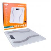 Balança Digital OEX BD100, Bluetooth (Versão 4.0), Visor LCD, Até 180Kg - Compatível Android e IOS