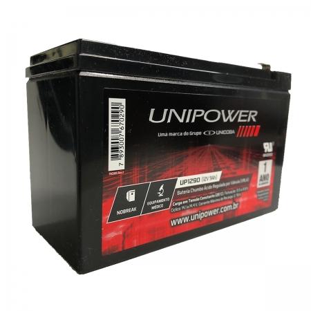 Bateria Unipower para Nobreak UP1290-06C025 F187 12V 9.0Ah