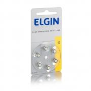 Bateria Zinco para Aparelho Auditivo 1,4V, (10/230), Blister Com 6 Unidades, Elgin - 82237