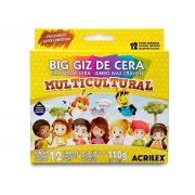Big Giz de Cera Multicultural 12 Cores,  Pct. c/ 6 Caixas - Acrilex - 9122