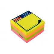 Bloco de Recado 51 x 51 mm Com 300 Folhas Cores Neon Caixa Com 12 Unidades Kaz - 713211