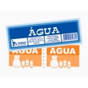 Bloco Ficha de Água, 50 x 02 Folhas, Pacote Com 10 Blocos, Tamoio - 01969