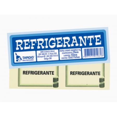 Bloco Ficha de Refrigerante, 50 x 02 Folhas, Pacote Com 10 Blocos, Tamoio - 01961
