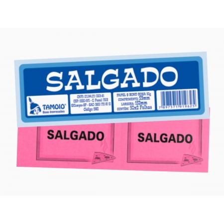Bloco Ficha de Salgado, 50 x 02 Folhas, Pacote Com 10 Blocos, Tamoio - 01962