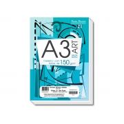 Bloco para Desenho A3, 150 g, 20 Folhas, Caixa Com 05 Unidades Pauta Branca - 124070