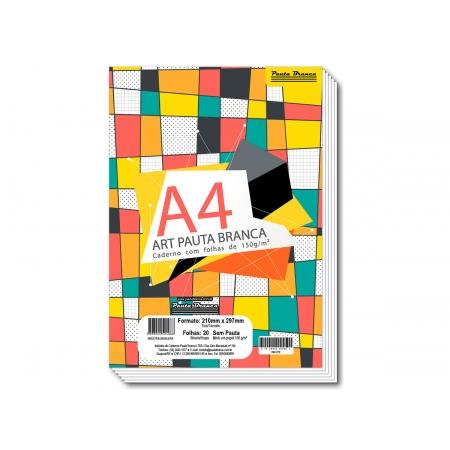 Bloco para Desenho A4, 150 g, 10 Folhas, Caixa Com 10 Unidades Pauta Branca - 524088