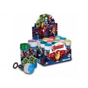 Bolha de Sabão Avengers, 60 ml, Display Com 12 Unidades, Brasilflex - 340062