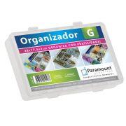 BOX ORGANIZADOR PARAMOUNT TRANSPARENTE G/ 28 X 17,5 X 4 CM - 147