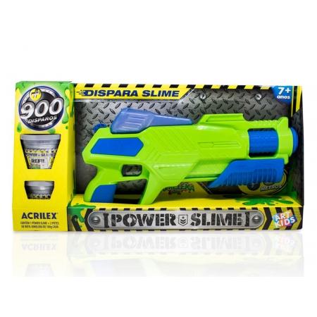 Brinquedo Pistola Power Slime Verde, Acrilex