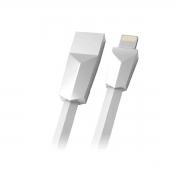 Cabo C3tech USB x Lightning 2,4A 1 Metro Branco CB-L170WH