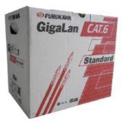 CABO DE REDE FURUKAWA CAT6 CAIXA 305-MTS GIGALAN U/UTP 23AWGX4P CM VERMELHO