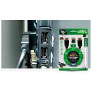 Cabo HDMI Elg V 2.0 M x M S/Filtro 1,80Mts 4K C/Adap.90º + Org.Cabo HS18L