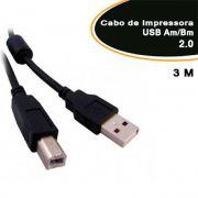 Cabo Usb P/impressora v 2.0 Am/bm 3,0mts - Empire 1671