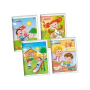 Caderno Brochura Flexível, 80 Folhas, Pacote C/ 10 Unidades, Jandaia - 40977