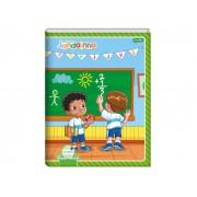 Caderno Brochura Meu Primeiro Jandainha, Pauta Verde, 190x248mm, Capa Dura, 40 Folhas, Pacote C/10