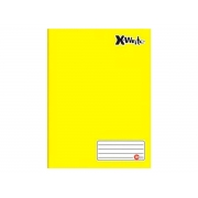 Caderno Brochurão, 96 Folhas, Caixa Com 05 Unidades - Máxima Caderno - Amarelo - 466