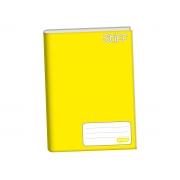 Caderno Brochurão Capa Dura, 96 Folhas, Pacote C/ 5 Unidades, Jandaia - Amarelo - 6111