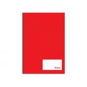 Caderno Brochurão Liso Class, Capa Dura 96 Folhas, Caixa Com 5 Unidades, Foroni - Vermelho