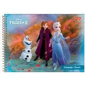 Caderno Desenho e Cartografia Espiral Frozen 275 x 200 mm Pct. C/ 5 Un. - Jandaia - 6251320