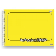 Caderno Desenho Espiral C.D. Amarelo, 60 Fls. Pct. C/ 5 Un. - São Domingos - 4730