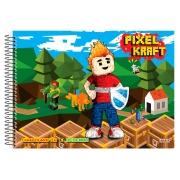 Caderno Desenho Espiral C.D. Pixel Kraft, 60 Fls. Pct. C/ 5 Un.  São Domingos - 4441
