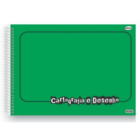 Caderno Desenho Espiral C.D. Verde, 60 Fls. Pct. C/ 5 Un. - São Domingos - 4729
