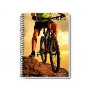 Caderno Espiral 10x1 New 200 Fls. Pct. C/ 3 Unidades - Pauta Branca